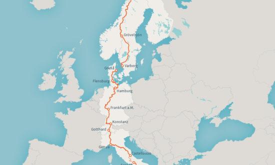 Wanderweg E1-Europa