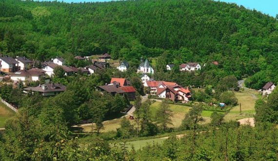 Oberauroff Panorama im Sommer